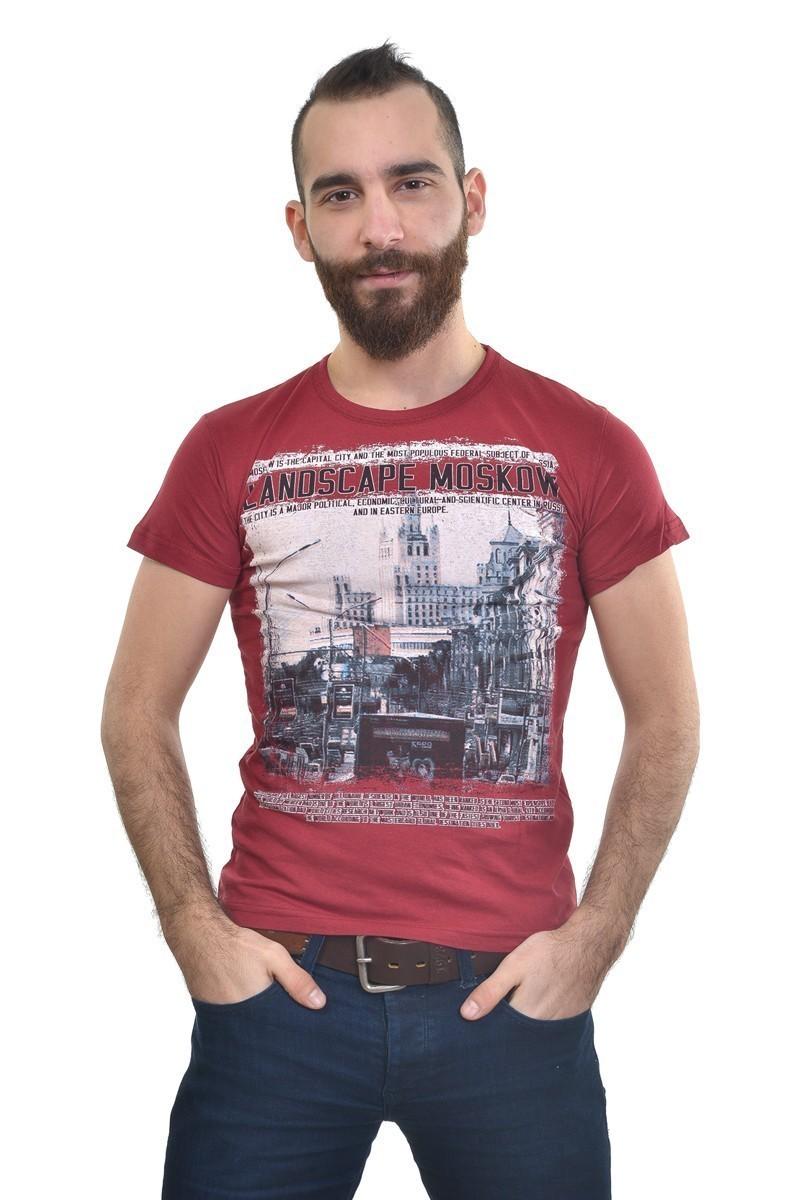 MTT Bordo MTT-208 Erkek Tişört