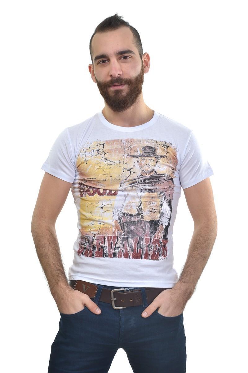 MTT Beyaz MTT-207 Erkek Tişört