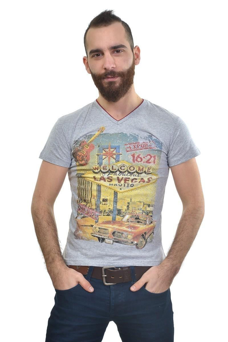 MTT Gri MTT-205 Erkek Tişört