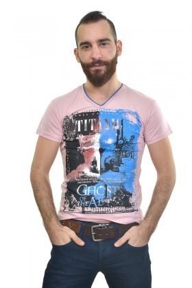 MTT Açık Pembe MTT-203 Erkek Tişört