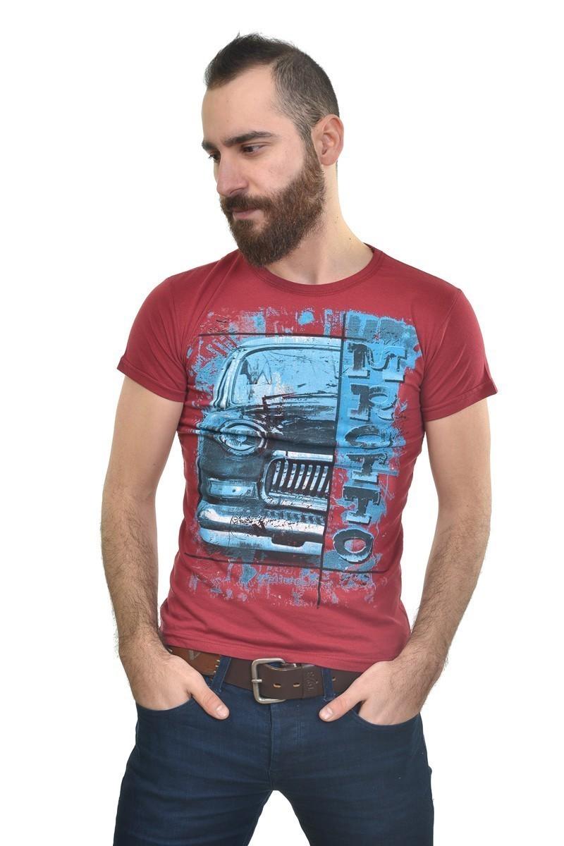 MTT Bordo MTT-201 Erkek Tişört