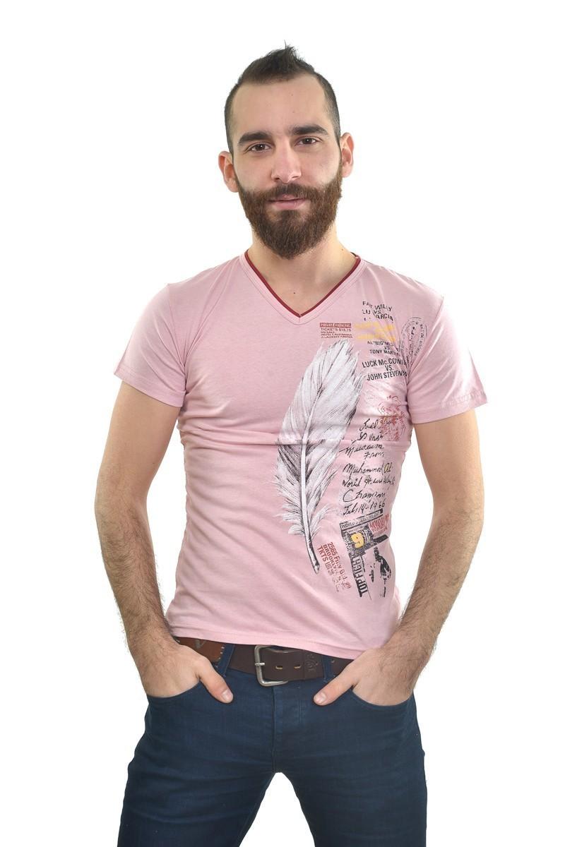 MTT Açık Pembe MTT-200 Erkek Tişört