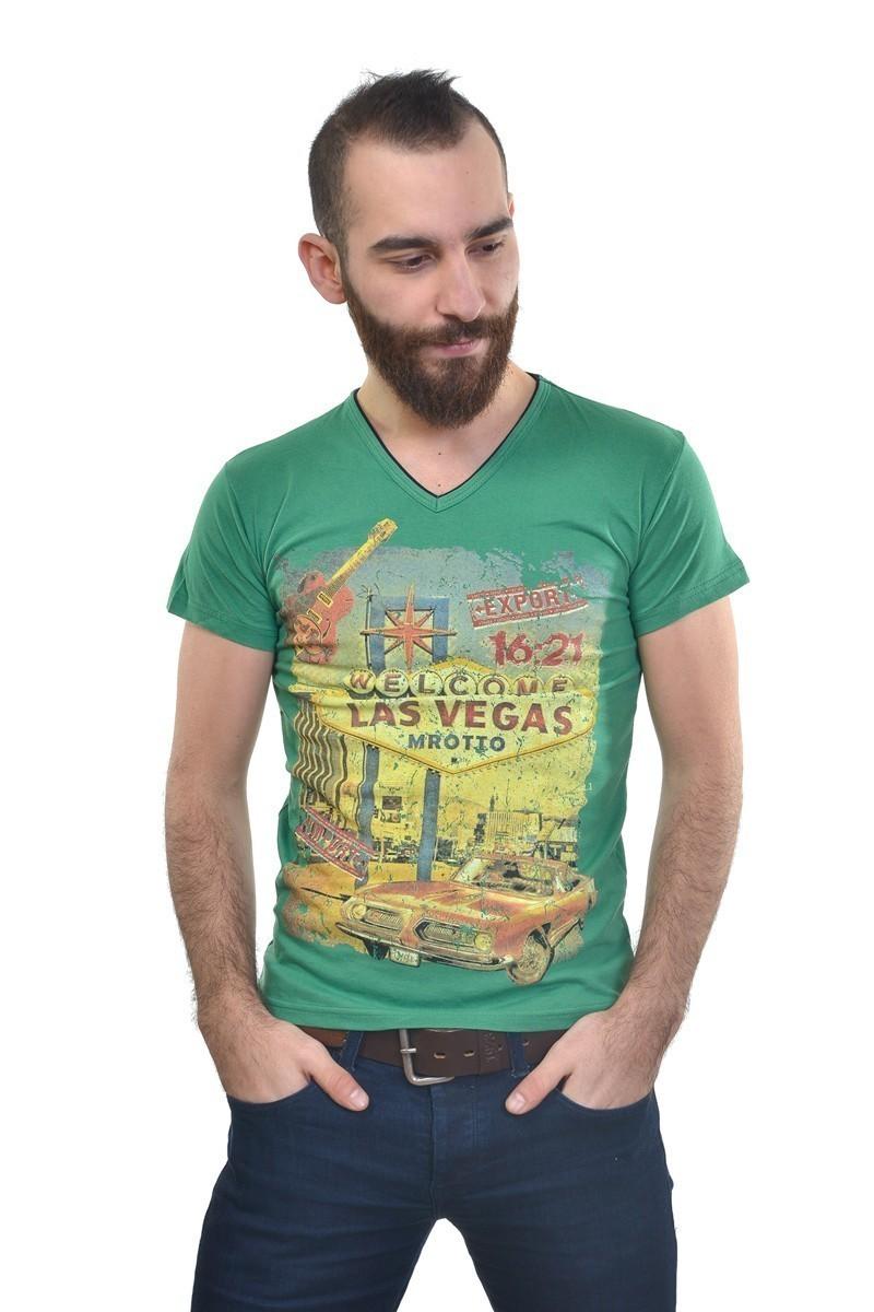 MTT Yeşil MTT-198 Erkek Tişört
