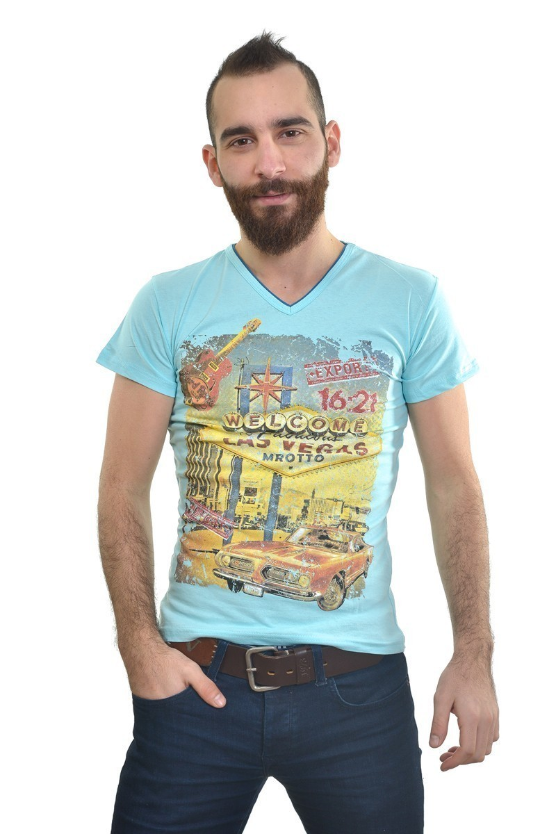 MTT Mavi MTT-190 Erkek Tişört