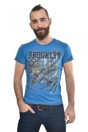 MTT Mavi MTT-188 Erkek Tişört