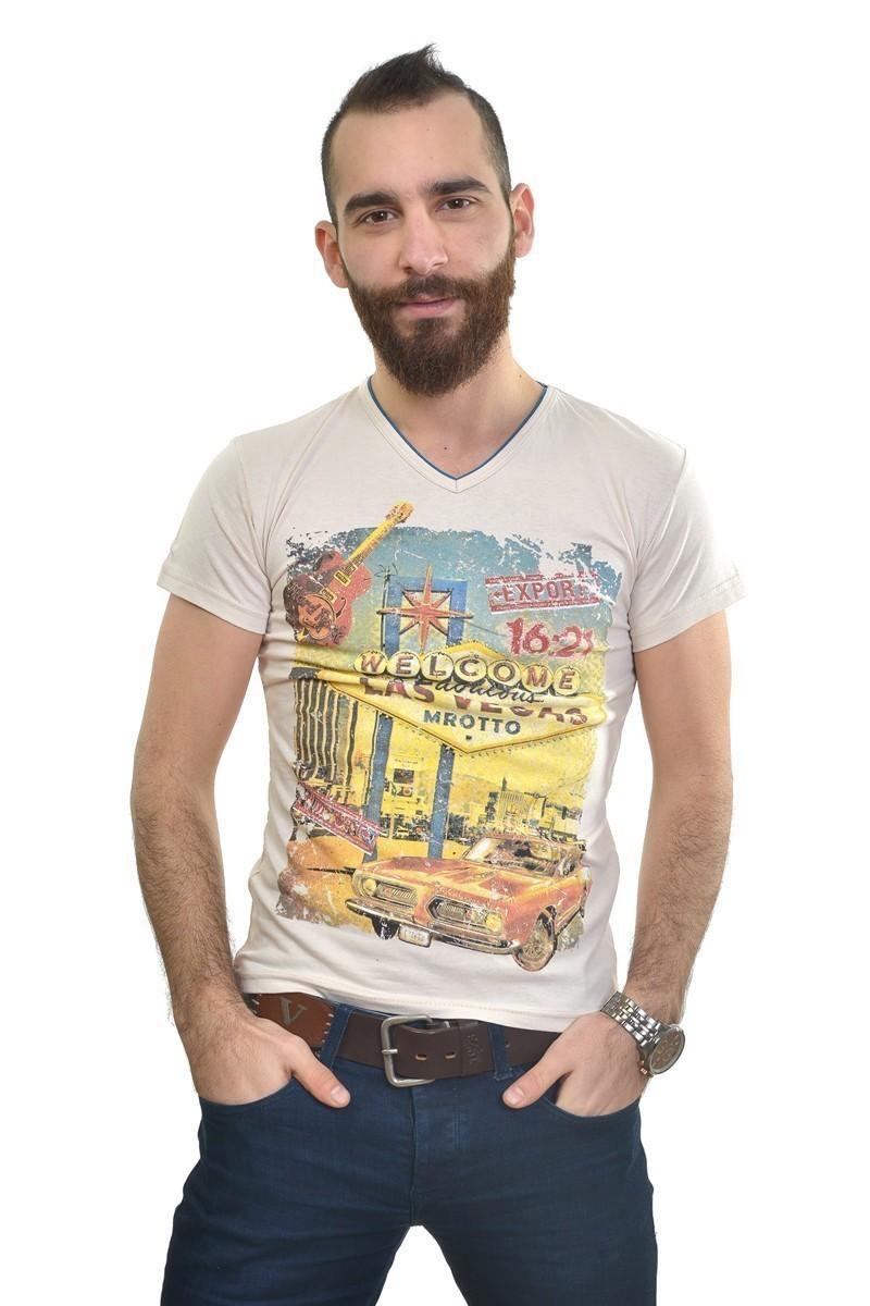 MTT Krem MTT-186 Erkek Tişört
