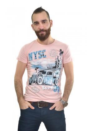 MTT Açık Pembe MTT-185 Erkek Tişört