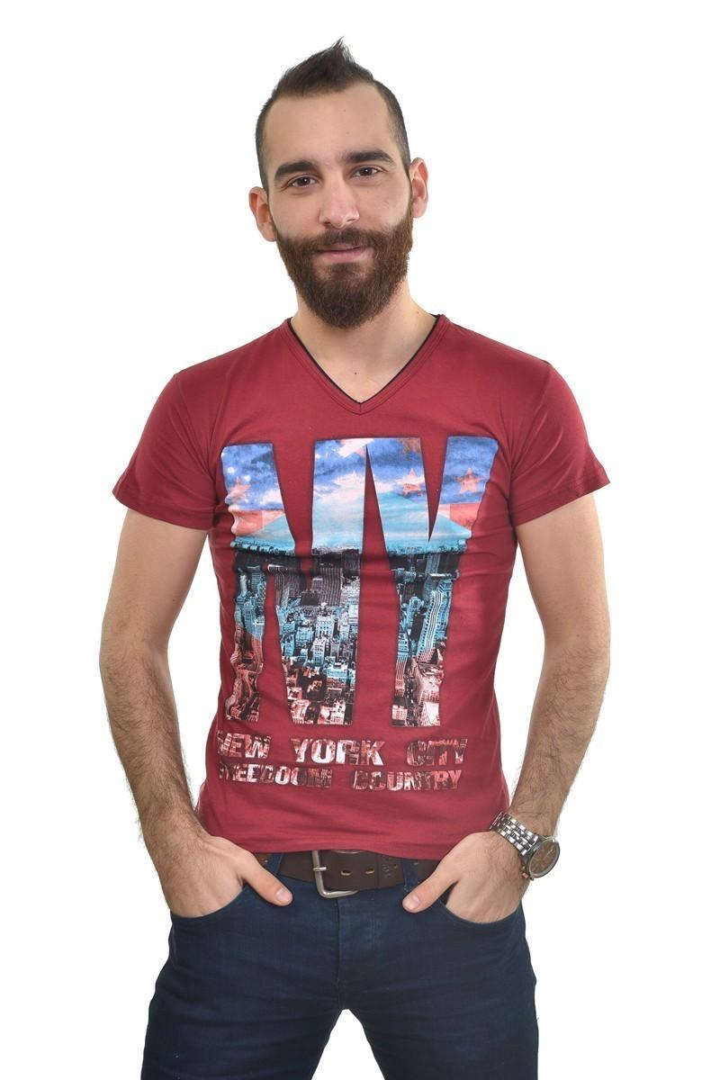 MTT Bordo MTT-183 Erkek Tişört