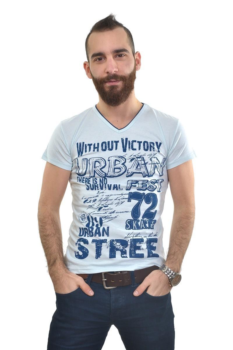 MTT Gök Mavi MTT-182 Erkek Tişört
