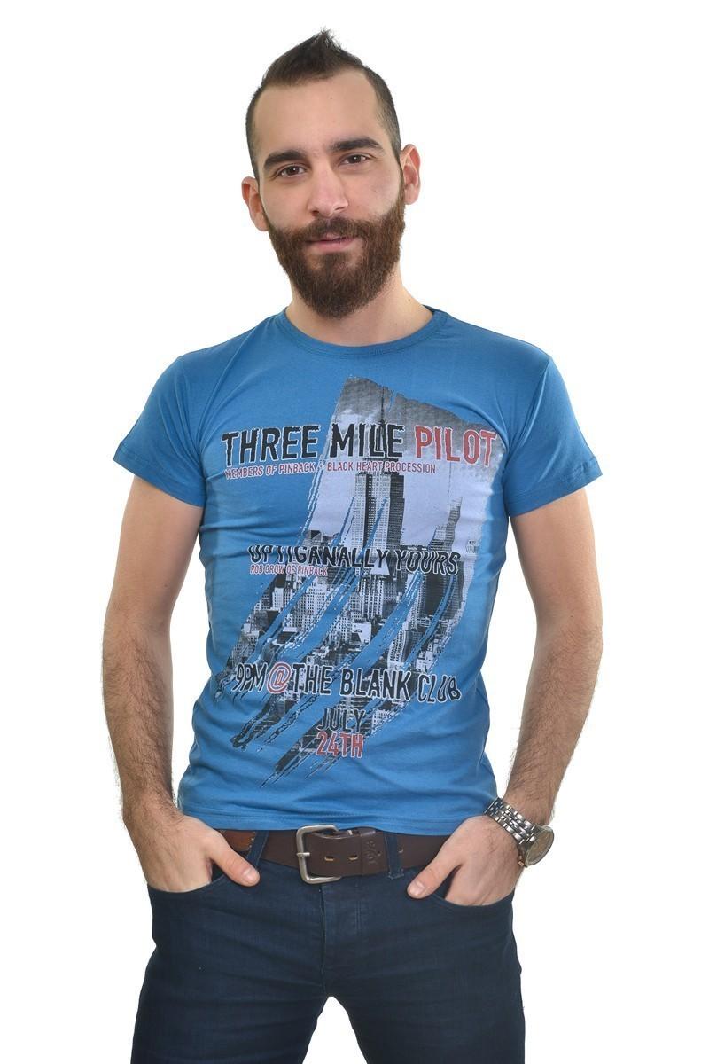 MTT Mavi MTT-179 Erkek Tişört