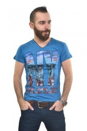 MTT Lacivert MTT-178 Erkek Tişört