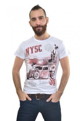 MTT Beyaz MTT-170 Erkek Tişört