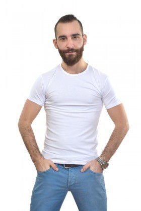 MTT Beyaz MTT-156 Erkek Tişört