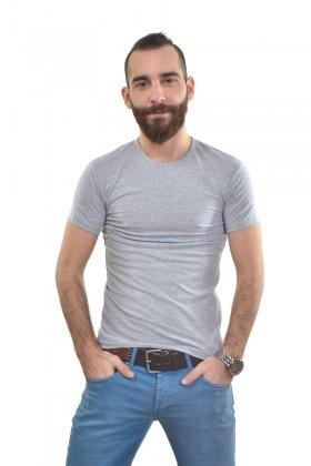 MTT Gri MTT-155 Erkek Tişört