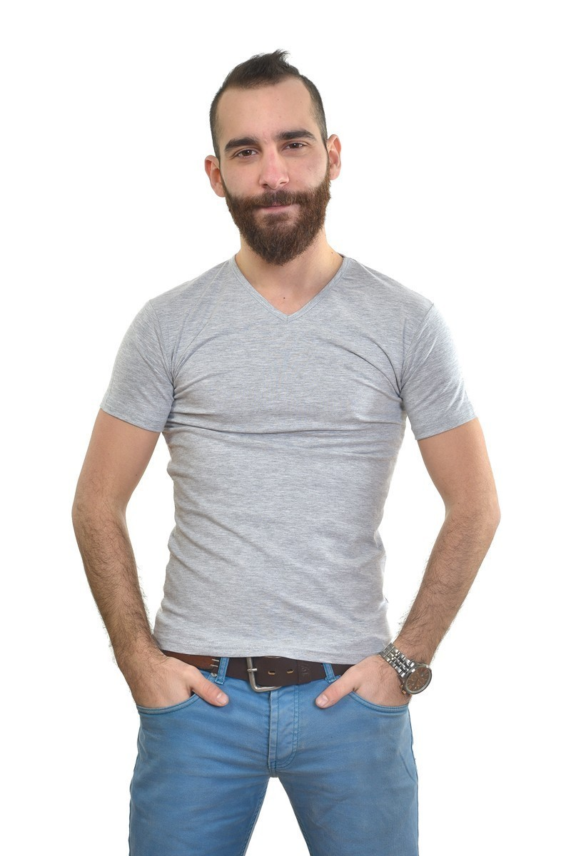MTT Gri MTT-154 Erkek Tişört