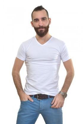 MTT Beyaz MTT-153 Erkek Tişört