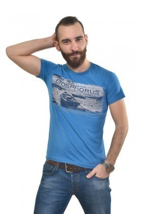 MTT Mavi MTT-400 Erkek Tişört