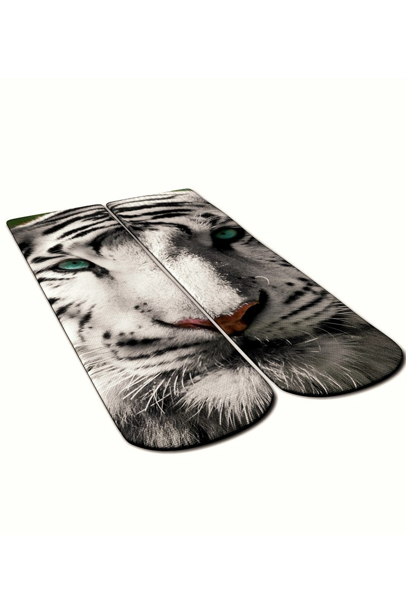 Baskido Karışık Renkli BSD-SO0111 White Tiger Soket Çorap