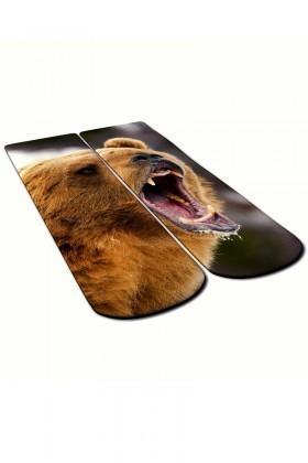 Baskido Kahverengi BSD-SO0105 Angry Bears Soket Çorap