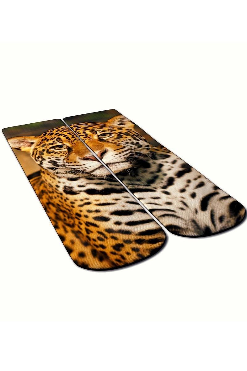 Baskido Karışık Renkli BSD-SO0108 Leopard Soket Çorap