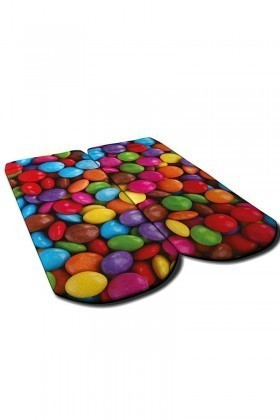 Baskido Karışık Renkli BSD-PT0133 Bonbon Patik Çorap