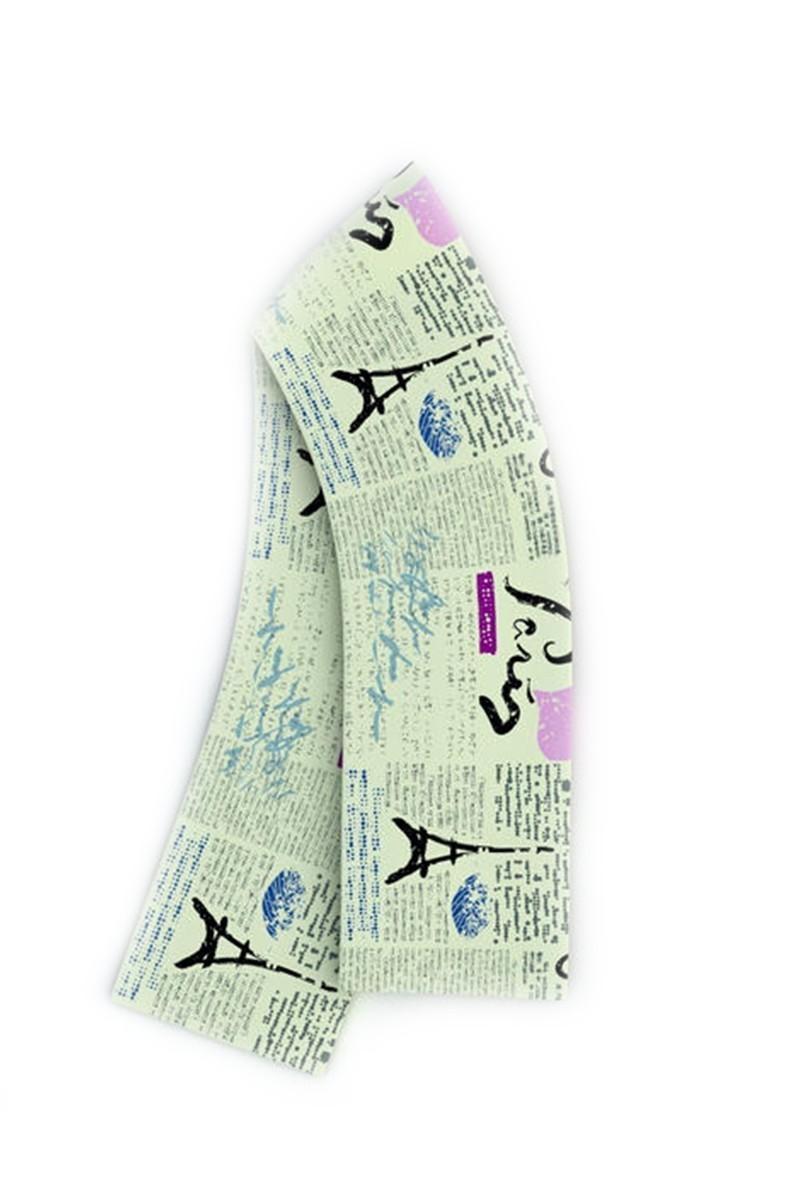 Baskido Karışık Renkli BSD-AT0102 Newspaper Atkı