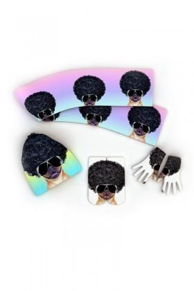Baskido Karışık Renkli BS-KO0115 Afro Bug Atkı-Bere-Eldiven Kombin