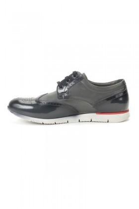 Pandew Gri PNDW-8294 Hakiki Deri Erkek Ayakkabı