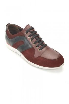 Pandew Bordo PNDW-8290 Hakiki Deri Erkek Ayakkabı