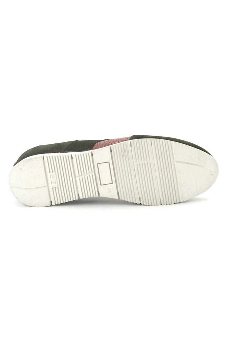 Pandew Siyah-Bordo PNDW-8289 Hakiki Deri Erkek Ayakkabı