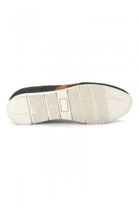 Pandew Siyah-Turuncu PNDW-8289 Hakiki Deri Erkek Ayakkabı