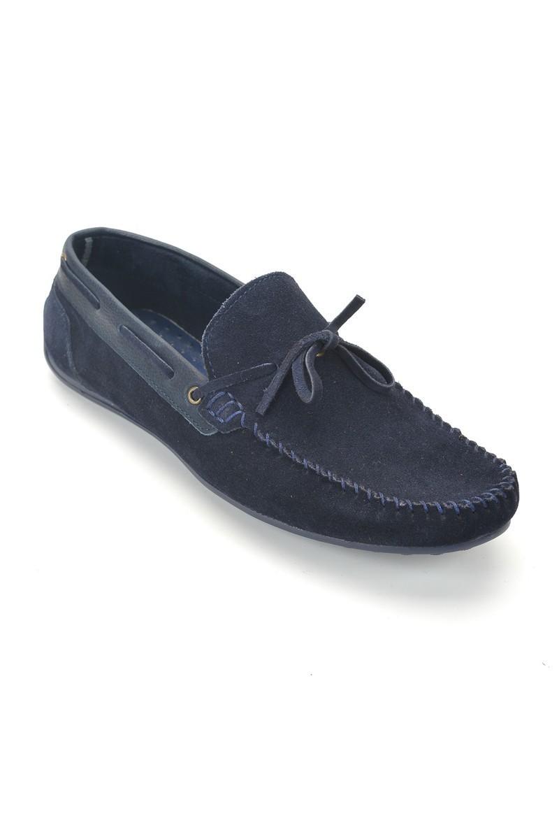 Pandew Lacivert PNDW-FR-BAG Hakiki Deri Erkek Ayakkabı