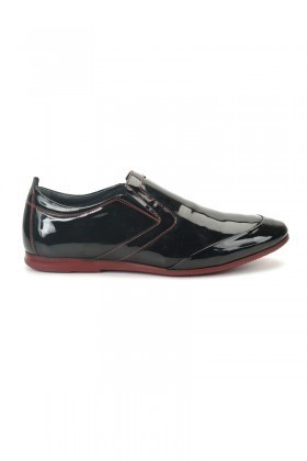 Three Star Siyah TS-2078 Hakiki Deri Erkek Ayakkabı
