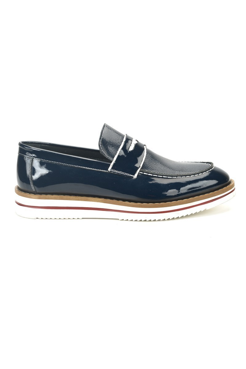 Three Star Lacivert TS-2071 Hakiki Deri Erkek Ayakkabı