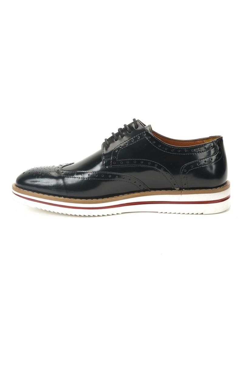 Three Star Siyah TS-2038 Hakiki Deri Erkek Ayakkabı