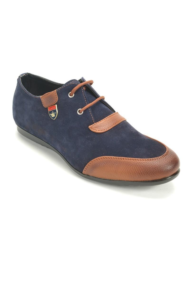 Slender Lacivert-Kahve SLDR-881-03 Erkek Ayakkabı