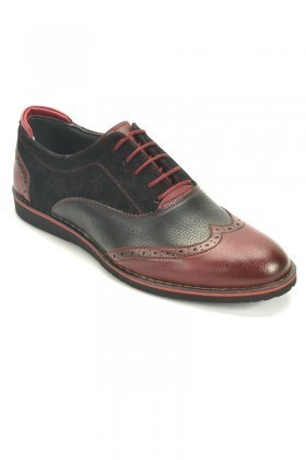 Slender Bordo-Siyah SLDR-455 Erkek Ayakkabı