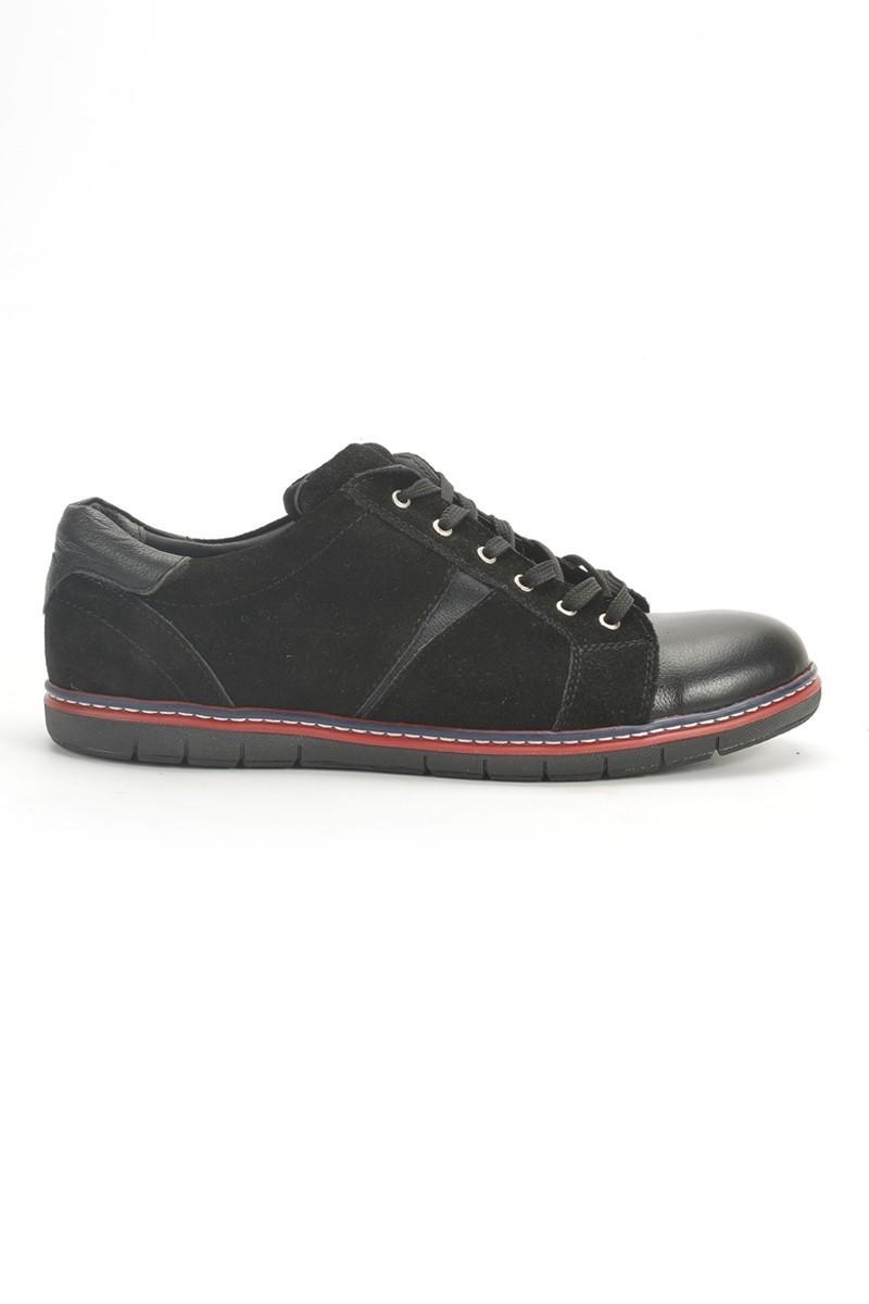 Ege Siyah EG-50005-SYH-SYH Hakiki Deri Erkek Ayakkabı
