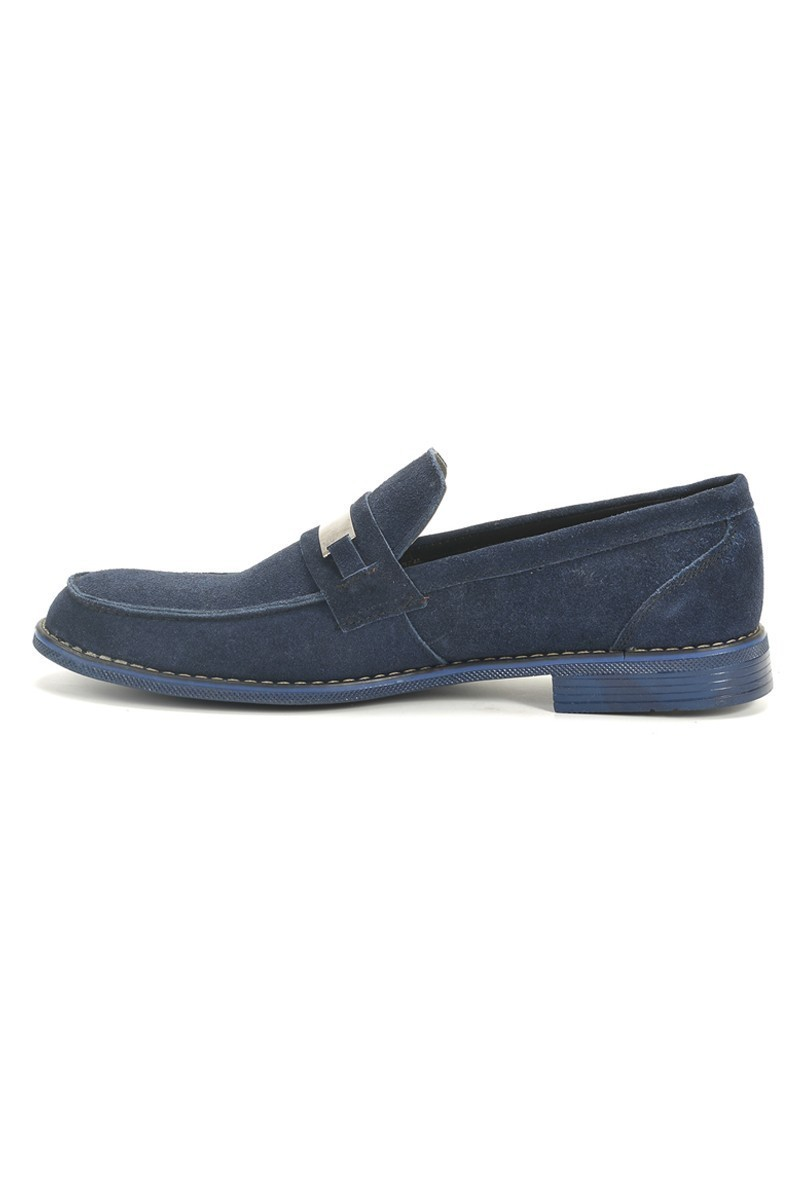 Ege Lacivert EG-3050 Hakiki Deri Erkek Ayakkabı