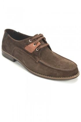 Ege Kahverengi EG-500 Hakiki Deri Erkek Ayakkabı