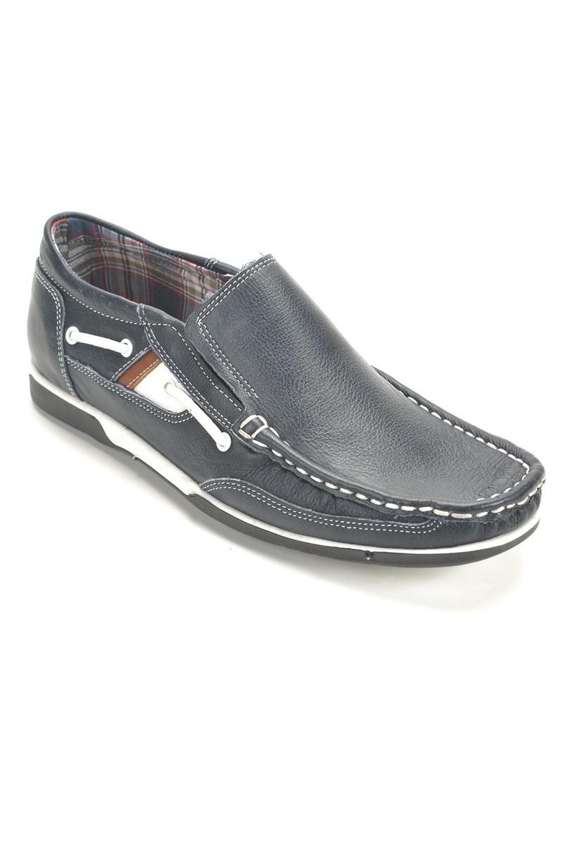 Ege Lacivert EG-350 Hakiki Deri Erkek Ayakkabı