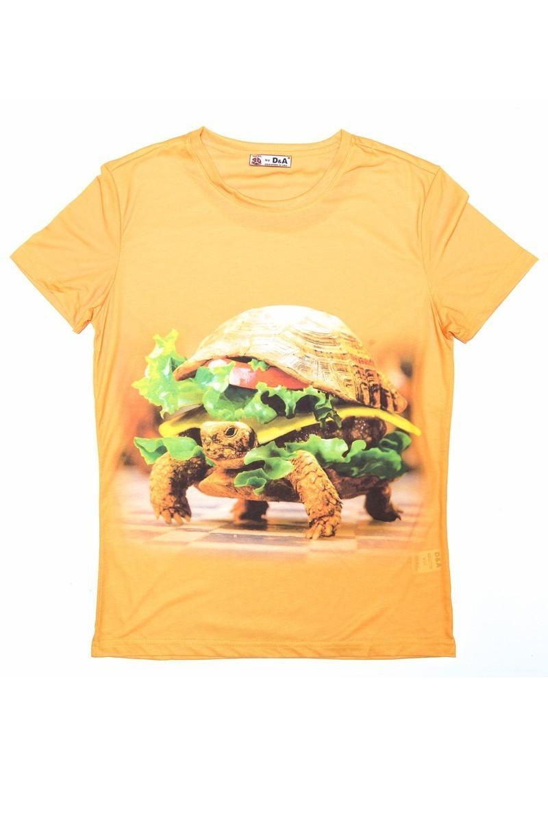 DAS Sarı DS-M899 3D Erkek Tişört