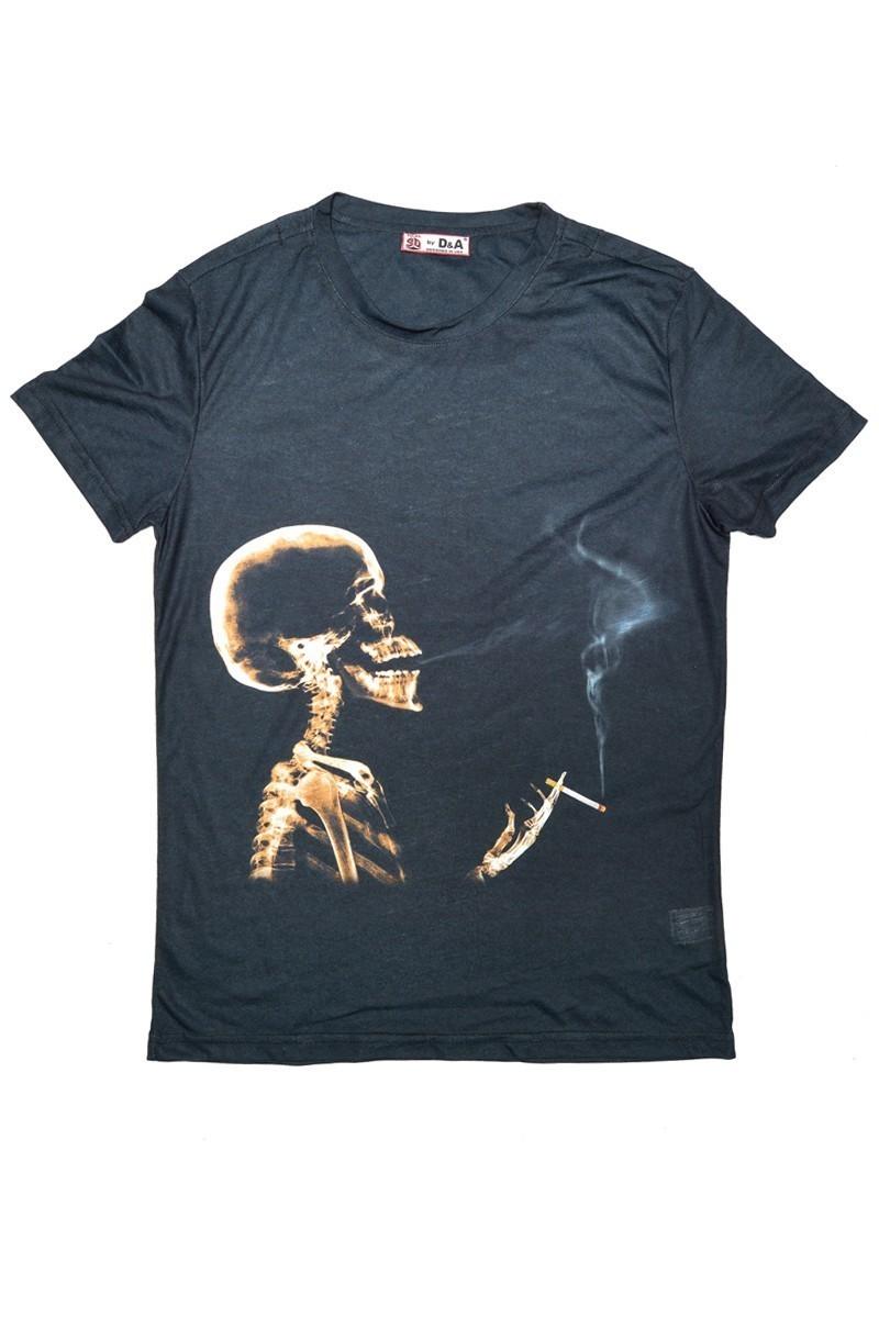 DAS Siyah DS-M0227 3D Erkek Tişört