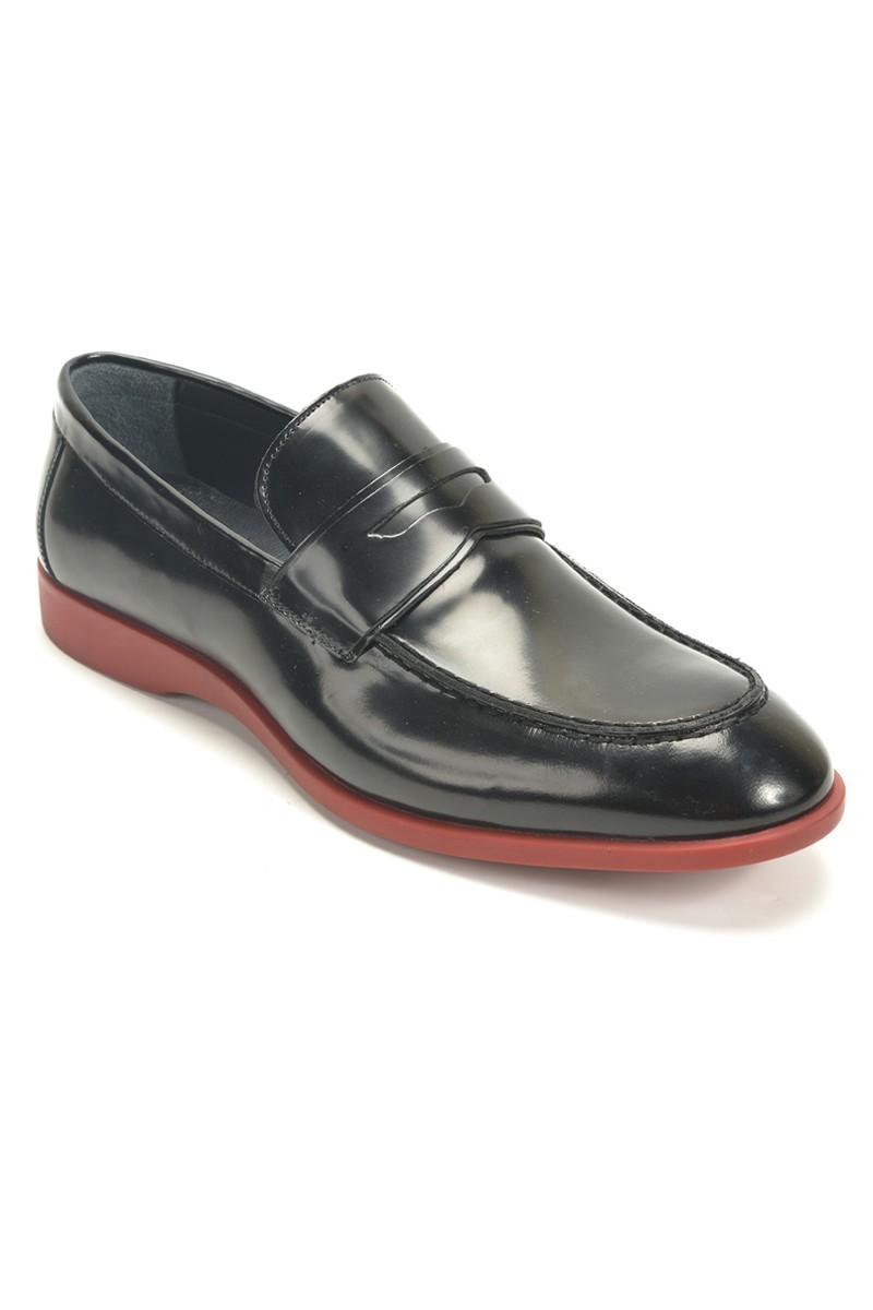 Chaos Siyah TS-2072 Hakiki Deri Erkek Ayakkabı