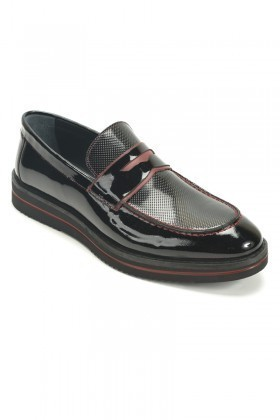 BLUESOIL Siyah BS-2071 Hakiki Deri Erkek Ayakkabı