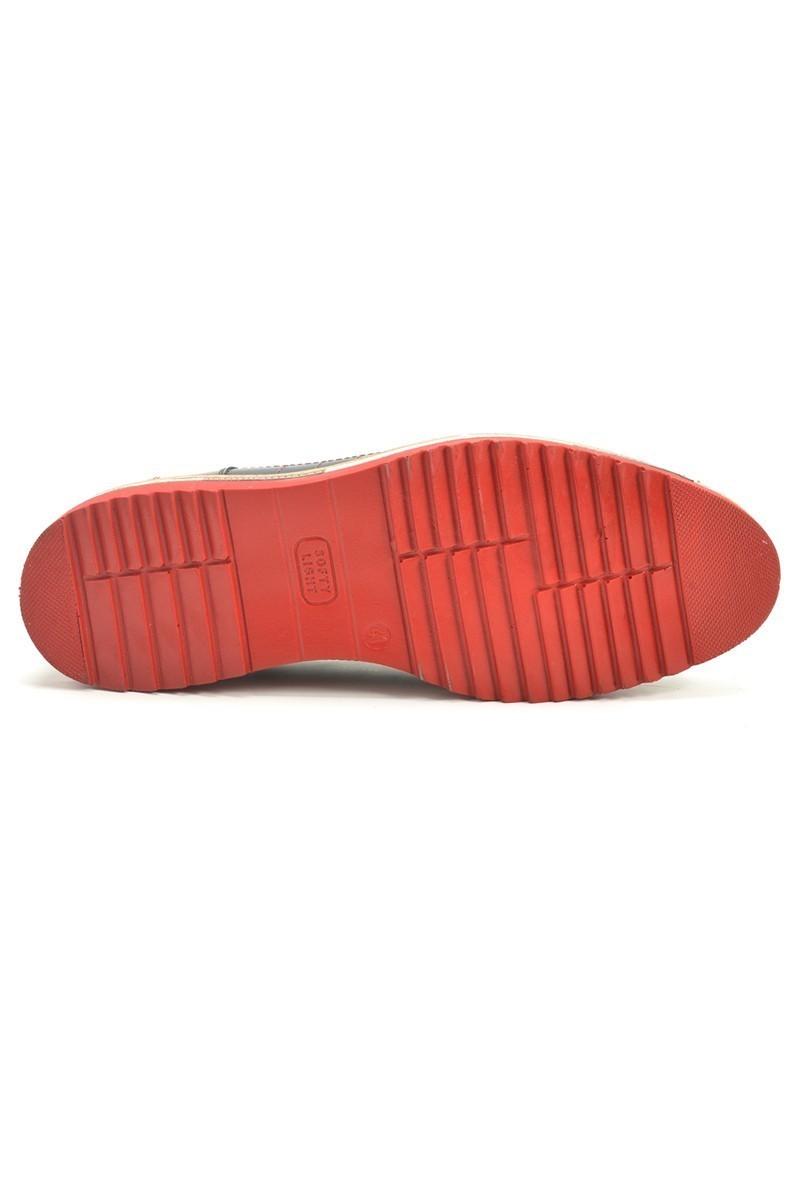 Chaos Lacivert-Bordo TS-1534 Hakiki Deri Erkek Ayakkabı