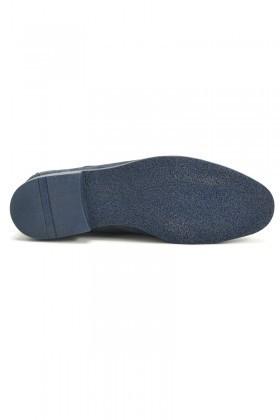 Ege Lacivert EG-500 Hakiki Deri Erkek Ayakkabı