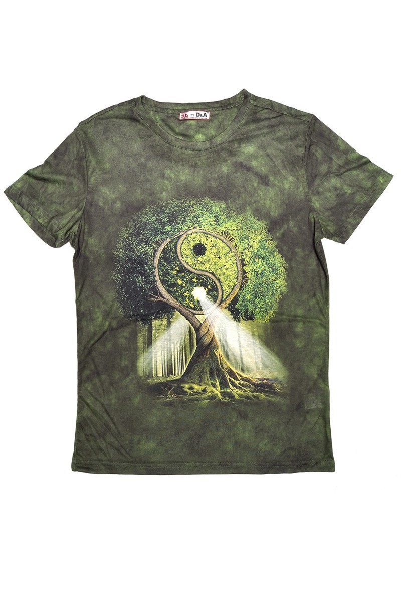 DAS Yeşil DS-M055 3D Erkek Tişört