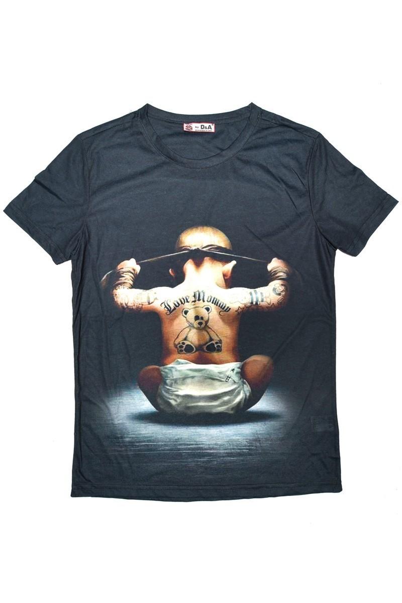 DAS Siyah DS-M0214 3D Erkek Tişört