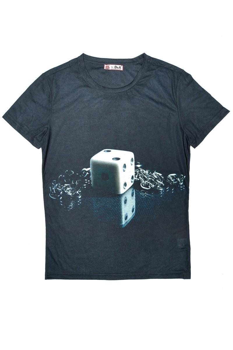DAS Siyah DS-M0267 3D Erkek Tişört